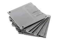 Black floppy disk isolated. Royalty Free Stock Photos