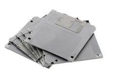 Black floppy disk isolated. Stock Photo