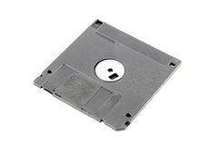 Black floppy disk isolated. Royalty Free Stock Images