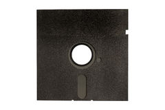 Black floppy disk isolated on white Stock Photos