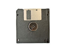 Black floppy disk on white Royalty Free Stock Photos