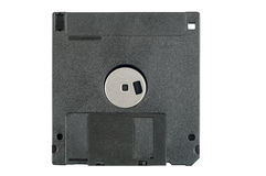 Black floppy disk on white background Royalty Free Stock Photo