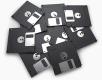 Black Floppy disks Stock Images