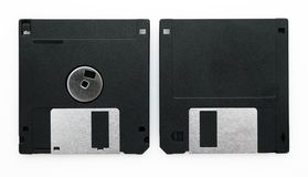 Black Floppy disks Royalty Free Stock Photos