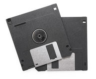 Black Floppy disks Royalty Free Stock Photography