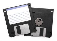 Black Floppy disks Royalty Free Stock Images