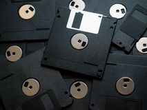 Black Floppy disks. Floppy disks isolated on white background royalty free stock photography
