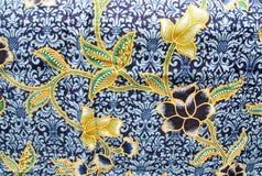 Black flora Sarong texture Stock Photography