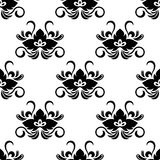 Black floral arabesque seamless pattern Stock Photography