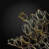 Black floral background Stock Images