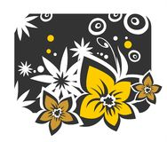Black floral background Royalty Free Stock Image