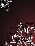 Black floral design Stock Image