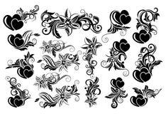 Black floral design element Royalty Free Stock Image