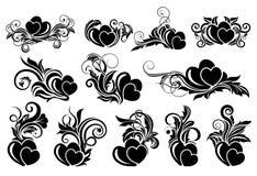 Black floral design element Stock Image
