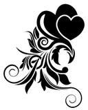Black floral design element Stock Photography