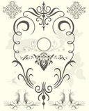 Black floral design elements stock illustration