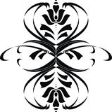 Black floral element royalty free stock image