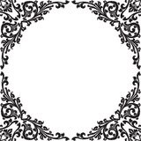 Black floral frame Royalty Free Stock Photography