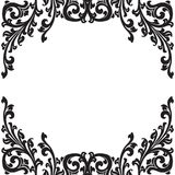 Black floral frame Stock Images
