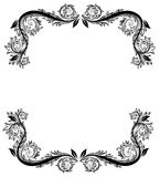 Black Floral Frame. Perfectly designed for newsletters, stationary, greeting cards and backgrounds vector illustration