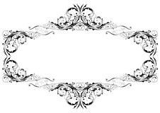 Black floral frame Royalty Free Stock Photo