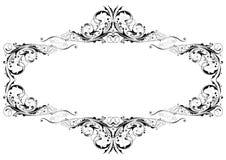 Black floral frame Royalty Free Stock Photo