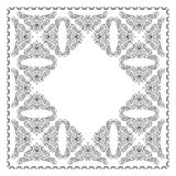 Black floral vector frame - illustration Stock Photos