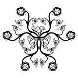 Black Floral Mandala Royalty Free Stock Photography