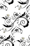 Black Floral Ornament Royalty Free Stock Images