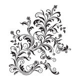 Black floral ornament isolated Stock Photo