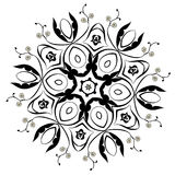 Black Floral Ornament Round Royalty Free Stock Photography