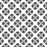 Black floral seamless pattern on white background. Black floral ornament on white background. Seamless pattern for textile and wallpapers Stock Images