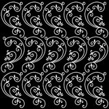 Black floral pattern Stock Photos