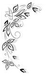 Black floral pattern Stock Image
