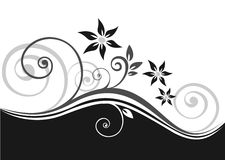 Black Floral Pattern Stock Photos