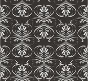 Black floral pattern Royalty Free Stock Images