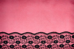 Black floral pattern lace Stock Photography