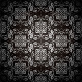Black floral repeat Royalty Free Stock Image