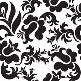 Black floral seamless Royalty Free Stock Photo