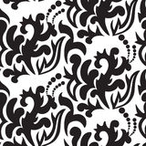 Black floral seamless Stock Photography