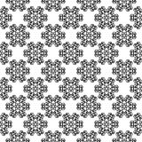 Black floral seamless pattern on white background. Black floral ornament on white background. Seamless pattern for textile and wallpapers Stock Photo