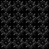 Black floral wallpaper Stock Photo
