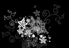 Black Floral X-1 Royalty Free Stock Images