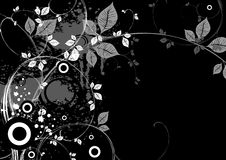Black Floral X-3 Royalty Free Stock Photo