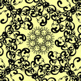 Black florid pattern. Royalty Free Stock Photography