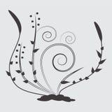 Black flower art drawing Royalty Free Stock Photo