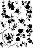 Black flower elements Royalty Free Stock Photo