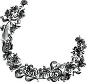 Black flower frame Royalty Free Stock Images