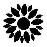 Black flower icon Stock Photo