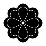 Black flower icon Royalty Free Stock Photography
